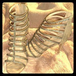 Diamond caged heels